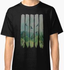 Eagles, Mountains, Grunge Landscape Classic T-Shirt