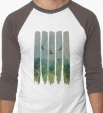 Eagles, Mountains, Grunge Landscape T-Shirt