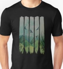 Eagles, Mountains, Grunge Landscape Unisex T-Shirt