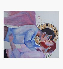gay angel kiss Photographic Print