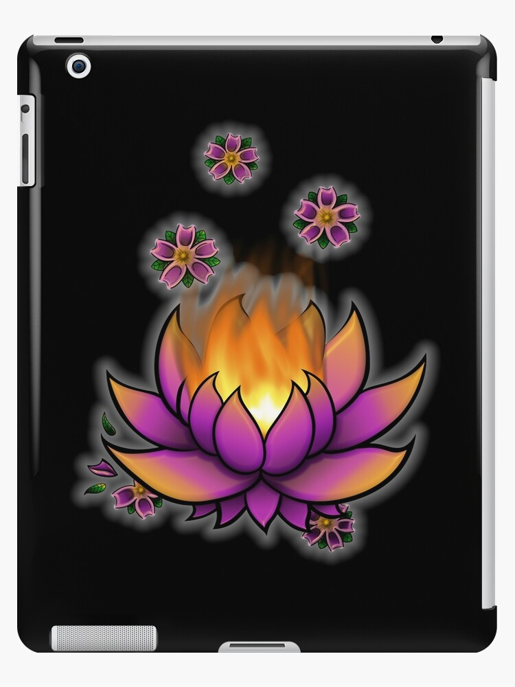 Flaming Lotus by Dextra Hoffman