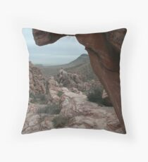 Frozen In Time, Red Rock Canyon, Nevada Throw Pillow