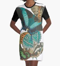 Vintage Butterflies Graphic T-Shirt Dress