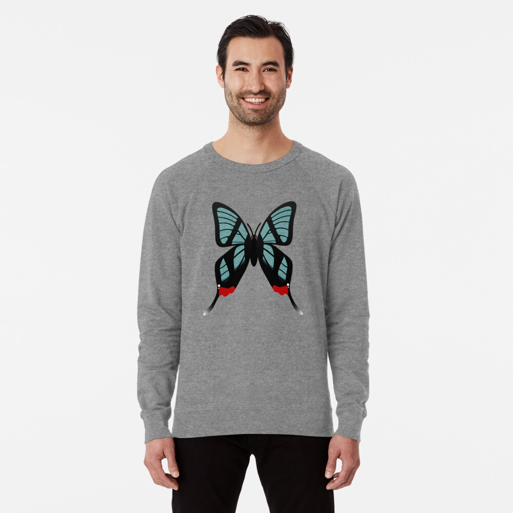 Glasswing Swallowtail Butterfly Lightweight Sweatshirt