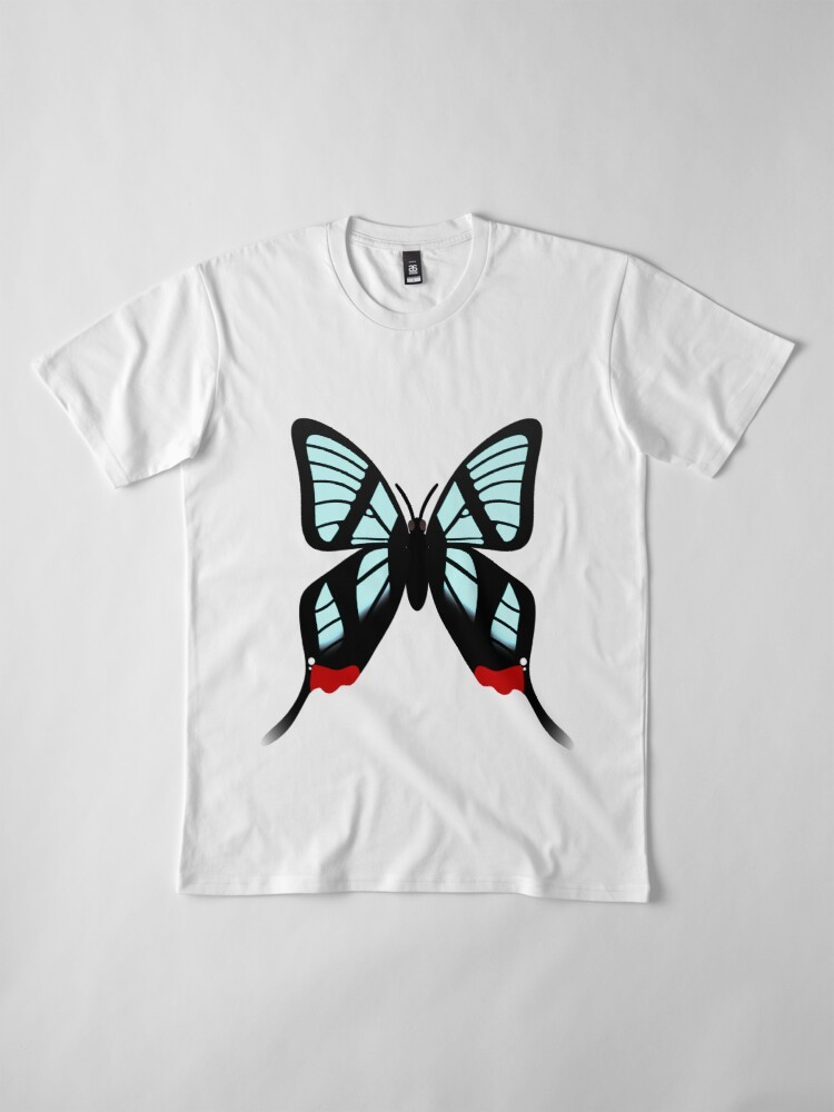Alternate view of  Glasswing Swallowtail Butterfly Premium T-Shirt