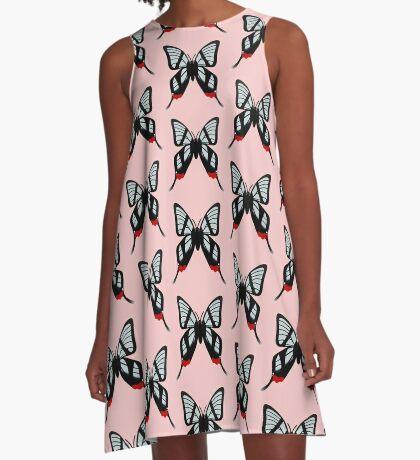 Glasswing Swallowtail Butterfly A-Line Dress