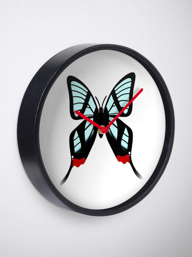 Alternate view of  Glasswing Swallowtail Butterfly Clock