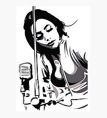 PJ Harvey (fan art vector illustration) Photographic Print