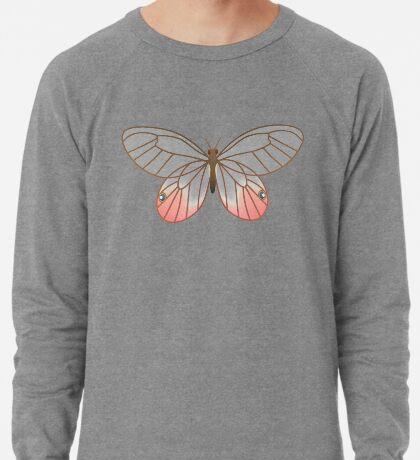 Pink Glasswing Butterfly Lightweight Sweatshirt