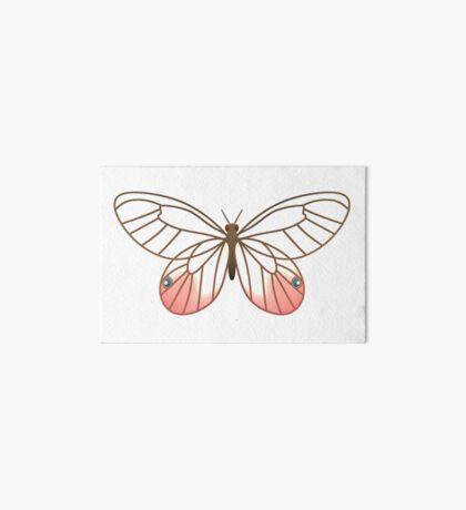 Pink Glasswing Butterfly Art Board Print