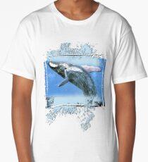 jumping whale Long T-Shirt