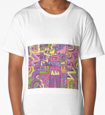 PopArt/Comic/StreetArt Composition Long T-Shirt