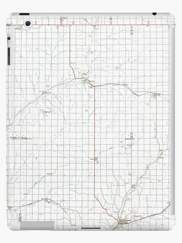 USGS TOPO Maps Iowa IA Ida Grove 174848 1985 100000 by wetdryvac