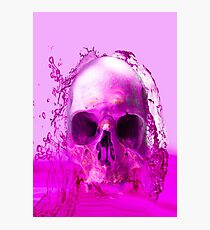 Purple Skull in Water Photographic Print