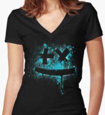 art garrix Women's Fitted V-Neck T-Shirt