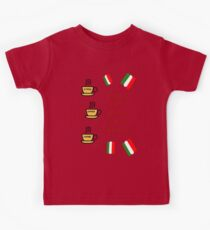 Italians know how to espresso themselves (dark) Kids Clothes