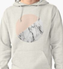 Blush with Marble Pullover Hoodie