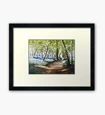 Morning Blue Framed Print