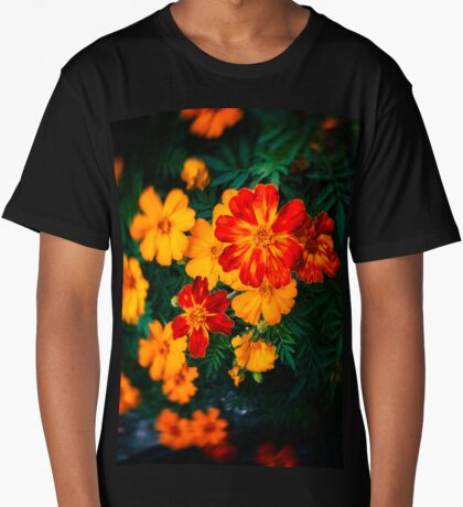 Colorful flowers Long T-Shirt
