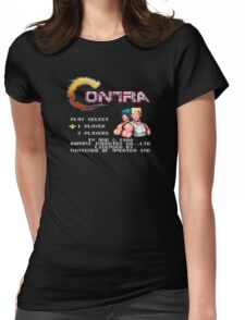 Contra (NES) Title Screen Womens Fitted T-Shirt