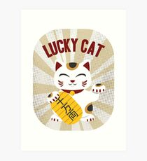 Maneki Neko - Lucky Cat Art Print