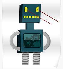 Angry Robot Laser Fun T-Shirt Poster