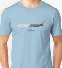 Illustration of Airbus A350 F-WWCF Unisex T-Shirt