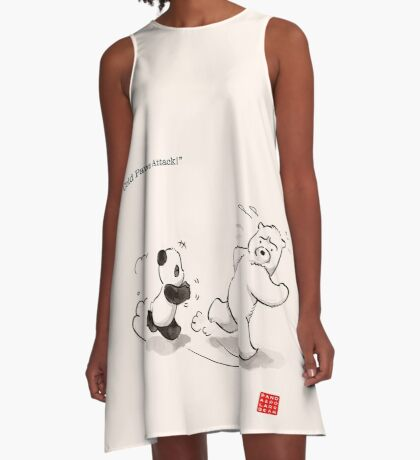 Cold Paws Attack A-Line Dress