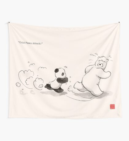 Cold Paws Attack Wall Tapestry