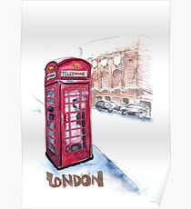 Telephone booth - London, UK Poster