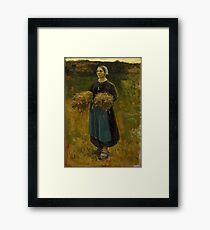 The Gleaner- Jules Breton Framed Print