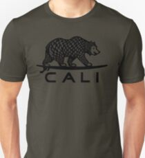 Black Cali Bear Unisex T-Shirt