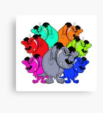 trippy mutts alliance Canvas Print