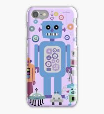 Retro Robots for Sci-fi Nerds and Geeks iPhone Case/Skin