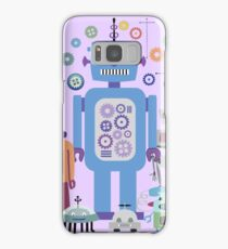 Retro Robots for Sci-fi Nerds and Geeks Samsung Galaxy Case/Skin