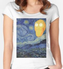 Starry Night Rick and morty Women's Fitted Scoop T-Shirt
