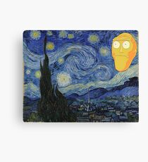Starry Night Rick and morty Canvas Print