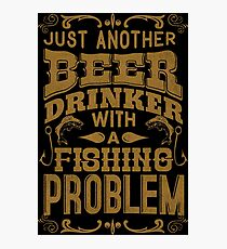 Beer and Fishing geek Photographic Print