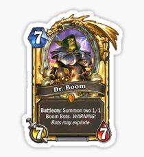 Dr. Boom Sticker