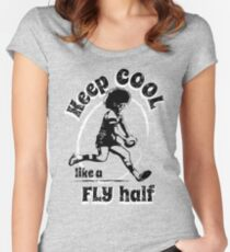 Rugby: Keep Cool Like A Fly Half Women's Fitted Scoop T-Shirt
