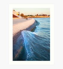 climbing wave Art Print