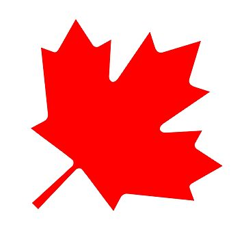 CANADA, CANADIAN, MAPLE LEAF, 45 degree, National Flag of Canada, 'A Mari Usque Ad Mare' by TOMSREDBUBBLE
