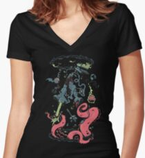 Geek Portals Women's Fitted V-Neck T-Shirt