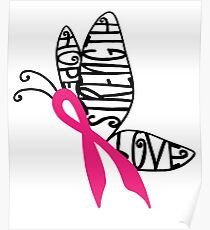 Breast Cancer Butterfly Poster