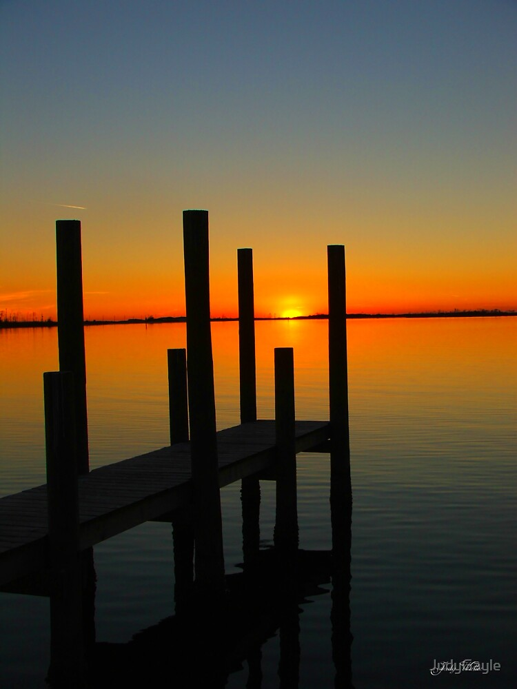 Sunset At The Pier by Judy Gayle Waller