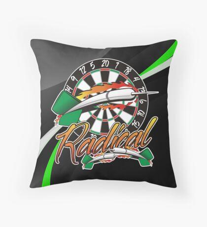 Radical Darts Shirt Throw Pillow
