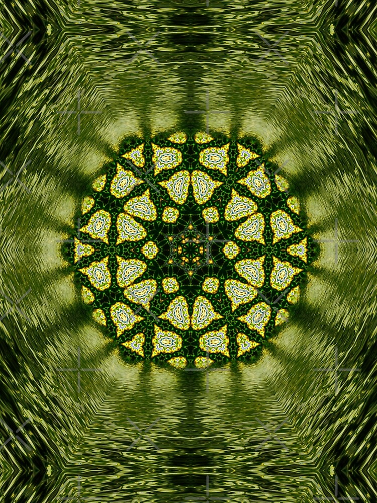 Liquid Green Hexagon Geometry by webgrrl