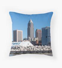 Cleveland Ohio Downtown Throw Pillow