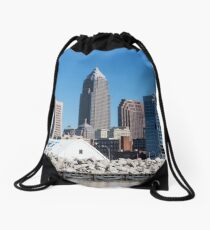 Cleveland Ohio Downtown Drawstring Bag