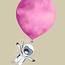 «Pingüino volar Globo rosa» de Ruta Dumalakaite